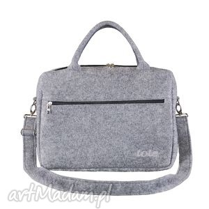 macfelt 15 - torba na laptop, szara, filc, filcowa, na, laptopa, damska, męska