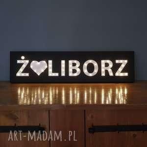 dom napis led żoliborz warszawa stolica obraz litery neon dekoracja lampa