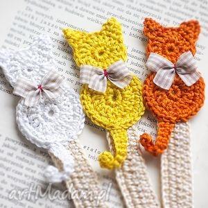 Zestaw 3 zakładek do książki, zakładka, zakładki, kot, kotek, koty
