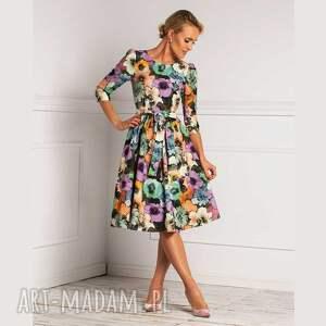 livia clue sukienka candice ii midi vallery, midi, rozkloszowana, elegancka