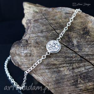 Prezent Naszyjnik srebrne druzy, mały, elegancki, delikatny, skromny, prezent