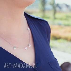 whw smooth nacre #4, masa perłowa, perła, hematyt, wisiorek, krótki, delikatny