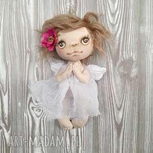 ręcznie zrobione dekoracje aniołek dekoracja ścienna - figurka tekstylna szyta