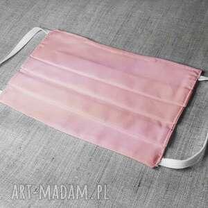 maseczka 100 bawełna na gumkach różowa, ochronna, maska, bawełniana, wirus