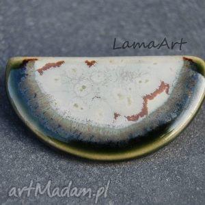 broszka ceramiczna przypinka - święta, imieniny, urodziny, mikołajki