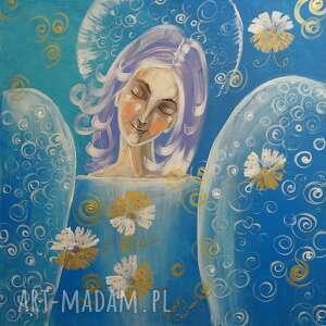 każdy dzień jest zaproszeniem do szczęścia, anioł, szczęście, obraz