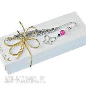 Prezent Motyl z jadeitem - zakładka w pudełeczku, zakładka, jadeit, motyl, prezent