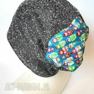 czapka damska codzienna kolorowa rozmiar na większą głowę 59-62 bez podszewki