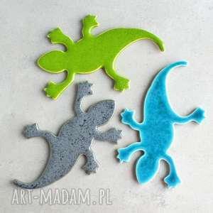 magnesy jaszczurka - magnes, jaszczurka, lodówka, kuchnia, kameleon