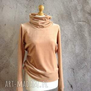 ręczne wykonanie bluzy bluza velvet rozmiar s/m