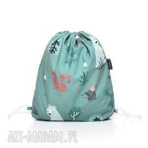 plecak worek przedszkolaka zielony las, worek, plecak, milutka