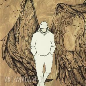 anioła spotykasz codziennie obraz akrylowy na płótnie 40cm x 30cm, anioł