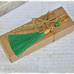 zakładka z zielonym chwostem - elegancki prezent, zakładka, chwost, prezent