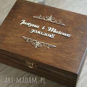 albumy pudełko na zdjęcia lub pamiątki, pudełko, drewno, eko, rustykalne