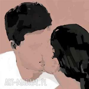 obraz na płótnie mua 100x100 cm, love, nowoczesny, obraz, płótno, plakat, paint