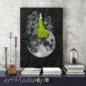 zielarka... art print a4, grafika, na-ścianę, wydruk, kobieta, zielarka, a4