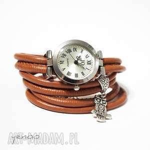 zegarki zegarek, bransoletka - karmelowy sowa, bransoletka, owijany