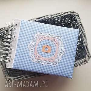 album na zdjęcia blue - miękka bawełniana okładka, album, prezent, scrapbooking