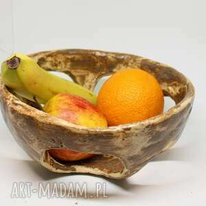 ręcznie wykonane ceramika wyjątkowa misa na owoce ozdoby szkliwiona