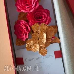 scrapbooking kartki personalized wedding money envelope card, red