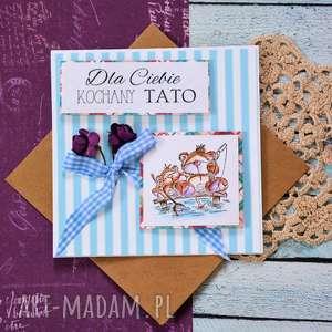 Kartka - dla ciebie kochany tato kartki maly koziolek kartka