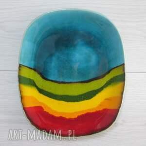 ceramika ana tęczowa patera ceramiczna, dekoracyjna, artystyczna, patera, talerz