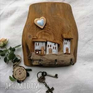 wieszaki rustykalny wieszak na klucze no 2, dom domek, drewniany, ozdoba