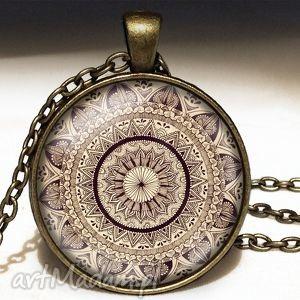 mandala - duży medalion z łańcuszkiem - mandala, zen, medalion, naszyjnik