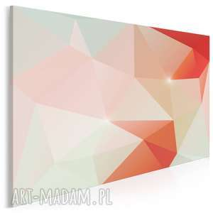 obraz na płótnie - kryształ czerwony pomarańczowy 120x80 cm 62505