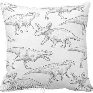 ręcznie wykonane pokoik dziecka poszewka na poduszkę dziecięca dinozaury