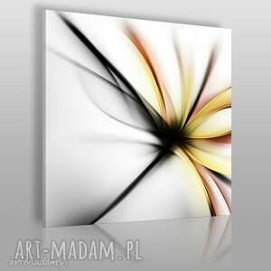 obraz na płótnie - abstrakcja kwiat nowoczesny w kwadracie 80x80 cm 55605