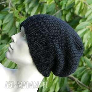 czapki 100 wool unisex klasyk zimowa wełniana czapka czarna