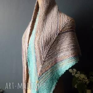 Asymetryczna chusta strzałka szaliki the wool art szal, chusta