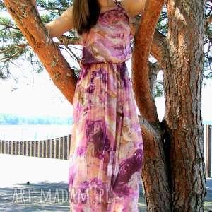Sukienka Maxi Venus Violet, maksi-sukienka, długa-sukienka, fioletowa-sukienka