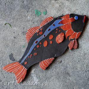 ceramiczna ryba większa- marzenie, dekor, ceramika, dekoracja, zawieszka, unikat