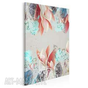 obraz na płótnie - kompozycja kwiaty w pionie 50x70 cm 62203