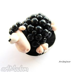 handmade lusterka lusterko - czarna owca