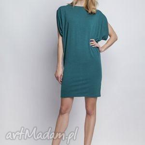 Sukienka, SUK102 zielony, casual, kimono, tunika, zielona, morska, midi