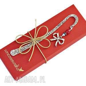 upominek świąteczny Kokardka - zakładka na prezent, zakładka, kokarda, prezent