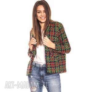 bien fashion zielona elegancka kurtka damska bombka - bombka, glamour, elegancka