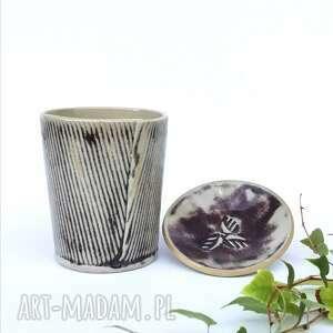 kubek bordo prążek drobny 500ml, ceramiczny, ceramika, kuchnia, prezent