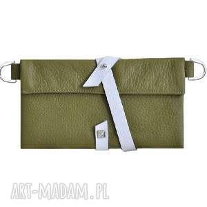 28-0011 Zielony organizer skórzany na damskie dodatki DAISY, organizer-do-torebki