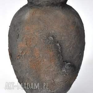 wazon archeo - big, archeo, dzban, loft, ceramika, wazon, rdza