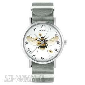 yenoo zegarek - bee natural szary, nylonowy, zegarek, nylonowy pasek, typ
