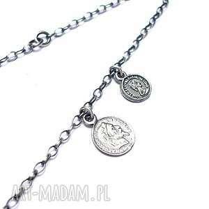 numizmaty vol 9 - bransoletka, delikatna, monety, numizmaty, srebro
