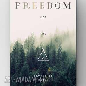 oryginalny prezent, life fetish design freedom, plakat, grafika, las, dom, freedom