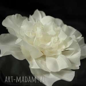 Jedwabny kwiat ozdoby do włosów selenit swarovski, kwiat, ozdoba