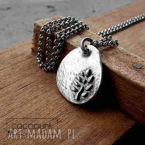 tree of life - srebro ag 925- naszyjnik - surowy, nowoczesny, organiczny, naturalny