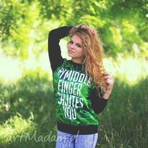 oryginalna bluza marihuana trawka z nadrukiem napisem, bluza, polska, unikatowa