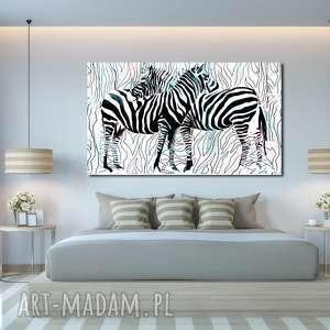 obraz xxl zebra 1 - 120x70cm na płótnie loft zwierzęta, obraz, zebry